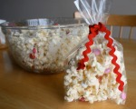 White Chocolate Popcorn w/ M&M's